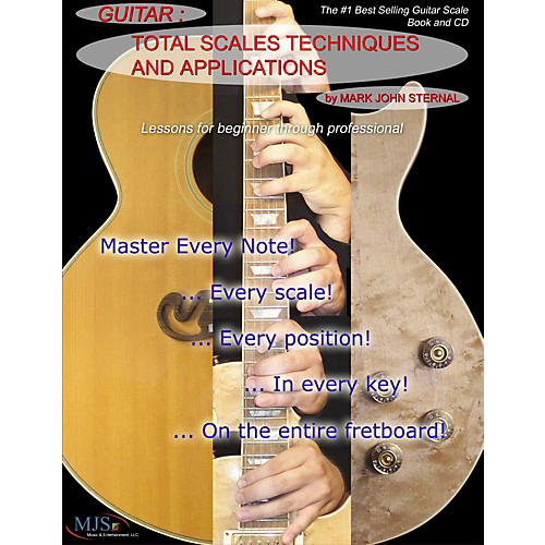 MJS Music Publications Total Scales Techniques and Applications - Guitar (Book/CD)