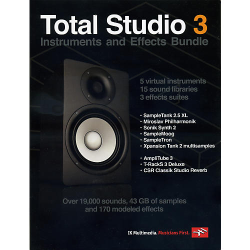 IK Multimedia Total Studio 3 Software Instruments and Effects Bundle-thumbnail