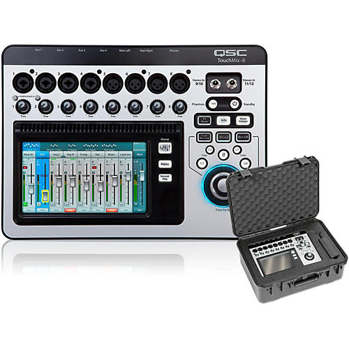 QSC TouchMix-8 Compact Digital Mixer with Case-thumbnail