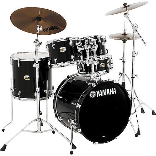 Yamaha tour custom 5 piece fusion shell pack black onyx for Yamaha dtx450k 5 piece electronic drum kit