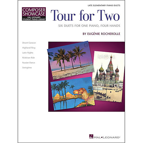 Hal Leonard Tour for Two - Six Duets for One Piano Four Hands - HLSPL Composer Showcase-Late Elementary-thumbnail