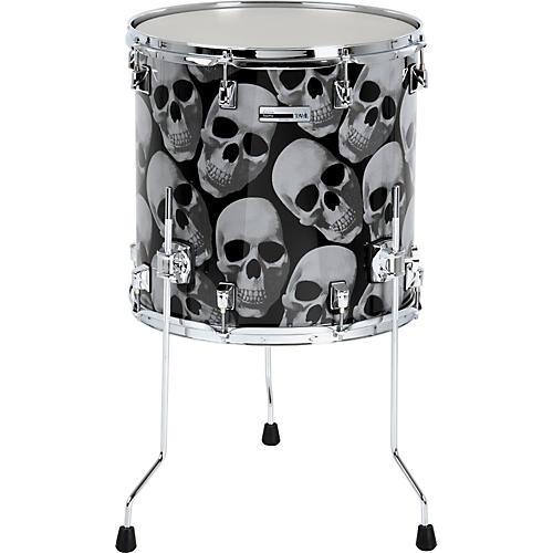 Taye Drums TourPro Graphix Skulls Floor Tom