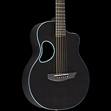 Kevin Michael Carbon Fiber Guitars Touring Carbon Fiber Acoustic-Electric Guitar Blue Binding