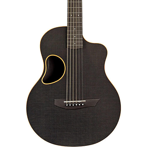 Kevin Michael Carbon Fiber Guitars Touring Carbon Fiber Acoustic-Electric Guitar Orange Binding