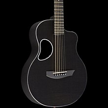Kevin Michael Carbon Fiber Guitars Touring Carbon Fiber Acoustic-Electric Guitar Silver Binding