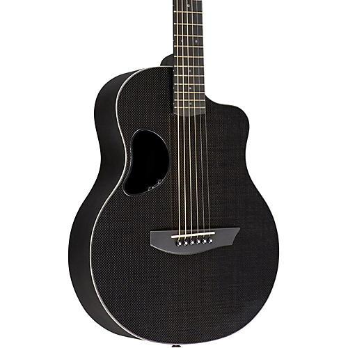 Kevin Michael Carbon Fiber Guitars Touring Carbon Fiber Acoustic-Electric Guitar White Binding