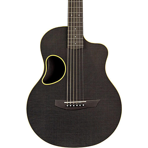 Kevin Michael Carbon Fiber Guitars Touring Carbon Fiber Acoustic-Electric Guitar Yellow Binding