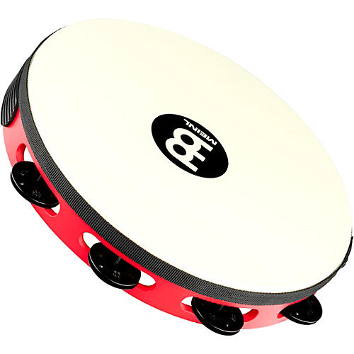 Meinl Touring Synthetic Head Wood Tambourine One Row Red