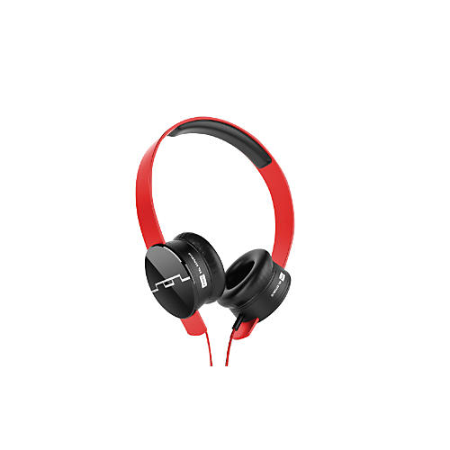 SOL REPUBLIC Tracks HD On-Ear Headphones with Single Button Remote Red