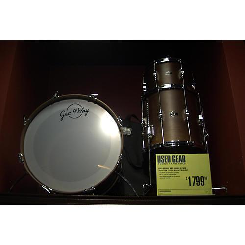 George Way Drums Tradition Tuxedo Walnut Drum Kit Walnut