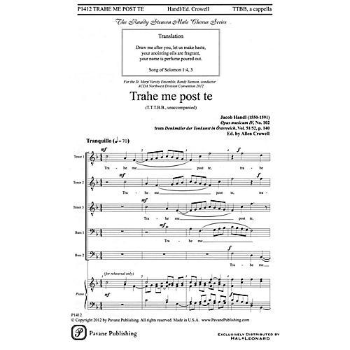 Pavane Trahe me post te TTBB A Cappella composed by Jacob Handl