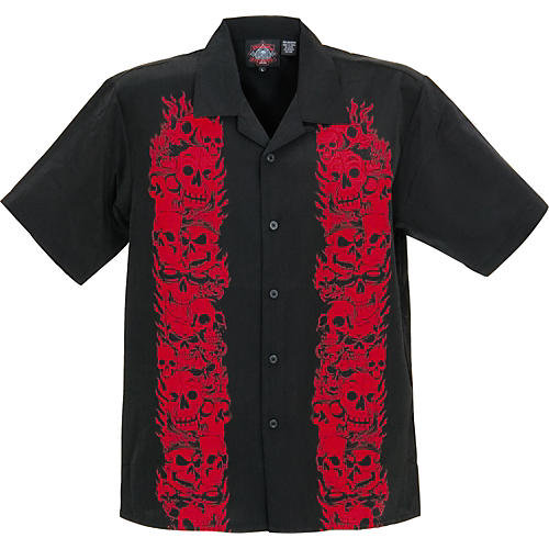 Dragonfly Clothing Company Trails Red Flames Woven Shirt