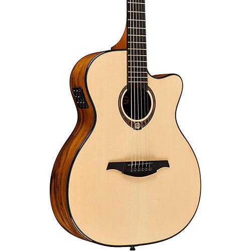 Lag Guitars Tramontane Limited Edition TSE-701ACE Snake Wood Auditorum Cutaway Acoustic-Electric Guitar