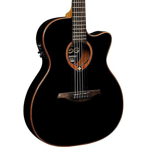 Lag Guitars Tramontane T100ASCE Slim-line Auditorium Cutaway Acoustic-Electric Guitar-thumbnail