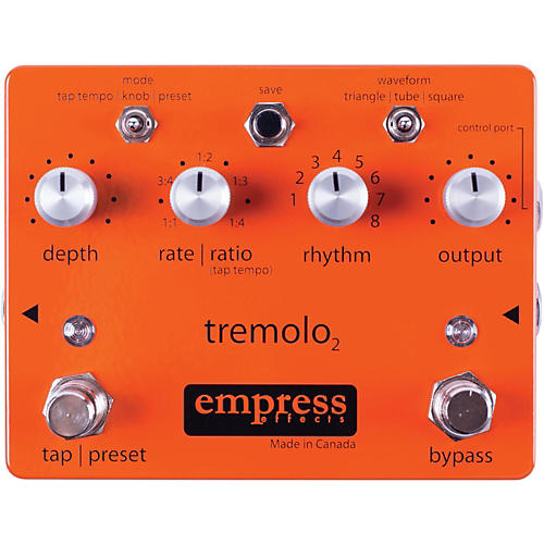 Empress Effects Tremolo2 Tremolo Guitar Effects Pedal-thumbnail