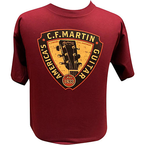 Martin Triangle Headstock T-Shirt Maroon Medium-thumbnail