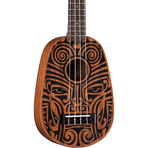 Luna Guitars Tribal Pineapple Ukulele Satin Natural