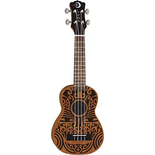 Luna Guitars Tribal Soprano Ukulele Satin Natural