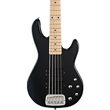 Tribute M2500 5-String Electric Bass Gloss Black Maple Fretboard