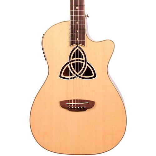 Luna Guitars Trinity Series Cutaway Parlor Acoustic-Electric Guitar-thumbnail