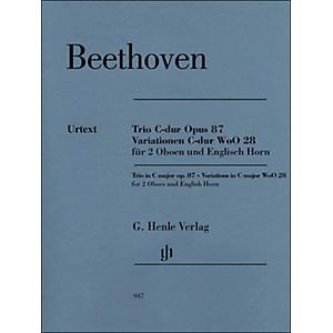 G. Henle Verlag Trio in C Major Op. 87 Variations in C Major Woo28 for 2 Ob... by