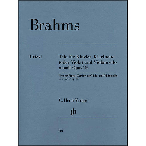 G. Henle Verlag Trio for Piano, Clarinet (Or Viola) And Violoncello In A Minor Op. 114 By Brahms