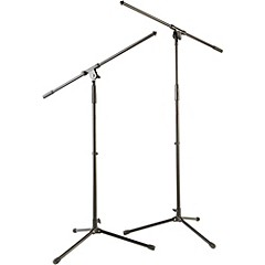 Tripod Mic Stand with Fixed Boom (2-Pack)