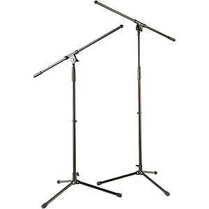 Musicians Gear Tripod Microphone Stand with Fixed Boom 2 Pack