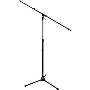 Tripod Mic Stand with Telescoping Boom Black