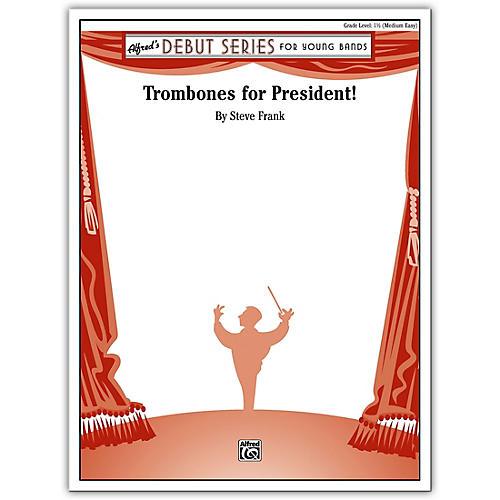 Alfred Trombones for President! Concert Band Grade 1 Set-thumbnail