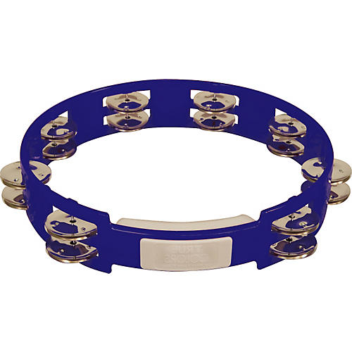 RhythmTech True Colors Tambourine Cobalt Blue 10 in.