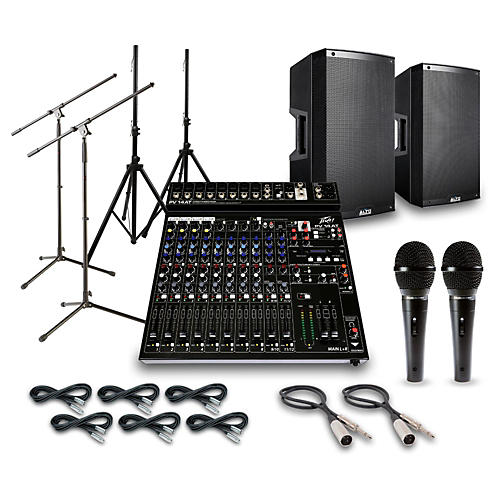 Alto Truesonic TS215 with Peavy PV14AT Mixer PA System-thumbnail