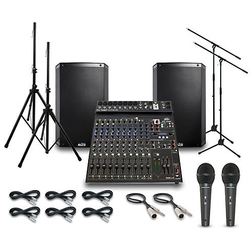 Alto Truesonic TS215 with Peavy PV14BT Mixer PA System-thumbnail