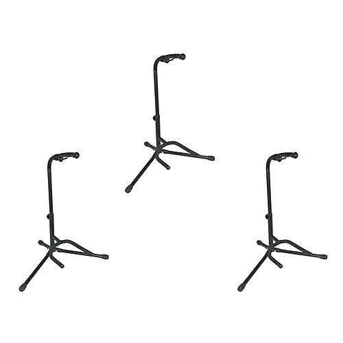 Musician's Gear Tubular Guitar Stand Regular Black 3-Pack