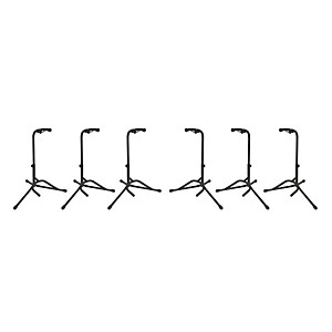 Tubular Guitar Stand Regular Black 6-Pack