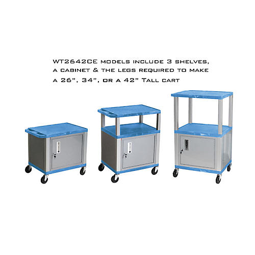 H. Wilson Tuffy Cart with Lockable Cabinet-thumbnail