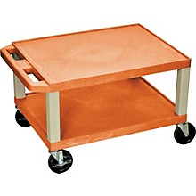 "H. Wilson Tuffy Plastic 16"" 2 Shelf Utility Cart"