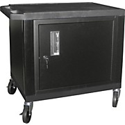 "H. Wilson Tuffy Plastic 26"" 2-Shelf Cart/Cabinet"