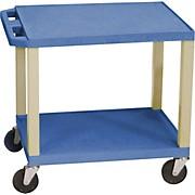 "H. Wilson Tuffy Plastic 26"" 2 Shelf Utility Cart"
