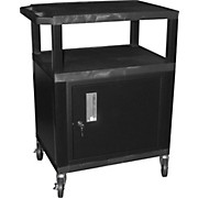 "H. Wilson Tuffy Plastic 34"" 3 Shelf Cart/Cabinet"