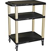 "H. Wilson Tuffy Plastic 34"" 3 Shelf Utility Cart"