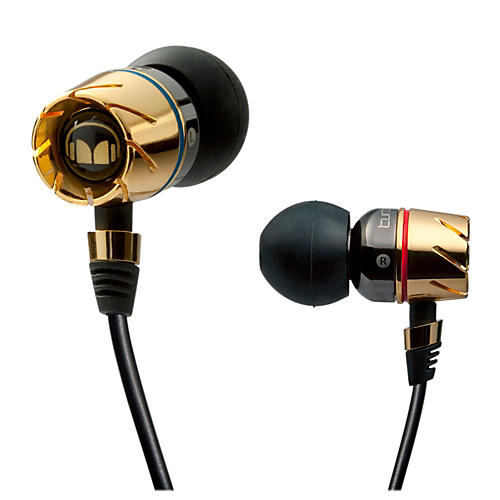 Monster Turbine Pro Gold Audiophile In-Ear Speakers with ControlTalk