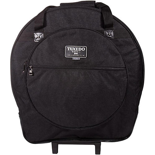 Humes & Berg Tuxedo Tilt-N-Pull Cymbal Bag with Dividers Black 22 in.-thumbnail