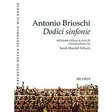 Ricordi Twelve Symphonies (Dodici sinfonie) Orchestra Series Softcover Composed by Antonio Brioschi