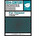 G. Schirmer Twentieth Century Orchestra Studies for Timpani Percussion Series Composed by Various Edited by Alan Abel thumbnail
