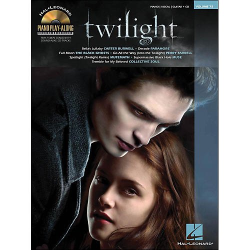 Hal Leonard Twilight - Music From The Motion Picture Soundtrack - Piano Play-Along Volume 75 (Book/CD) arranged for piano, vocal, and guitar (P/V/G)