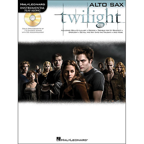 Hal Leonard Twilight For Alto Sax - Music From The Soundtrack - Instrumental Play-Along Book/CD Pkg