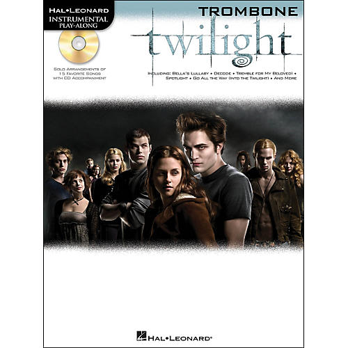 Hal Leonard Twilight For Trombone - Music From The Soundtrack - Instrumental Play-Along Book/CD Pkg