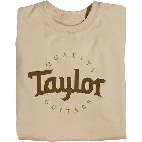 taylor two color logo t shirt sand large guitar center. Black Bedroom Furniture Sets. Home Design Ideas