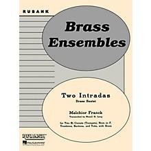 Rubank Publications Two Intradas (Brass Sextet or Choir - Grade 2) Rubank Solo/Ensemble Sheet Series